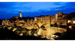 Misterious ancient village of Pitigliano, known as The Tuscan Jerusalem