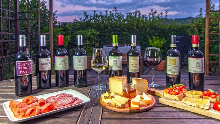 Tuscan wine and Tuscan food pairing, just to give you an idea of what you'll find at Simone Santini