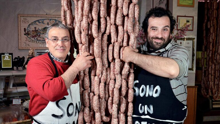 A Tuscan family of traditional style butchers