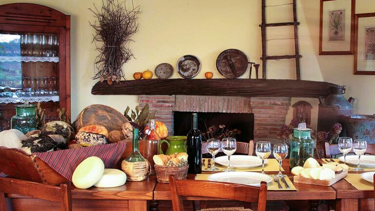 A Tuscan food lovers Paradise - Tuscan Pecorino cheese and Tuscan Wine Spectator TOP 100 wines