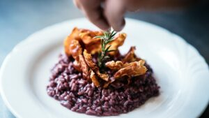 Chianti Classico risotto could be one of the plates in your olive oil pairing lunch