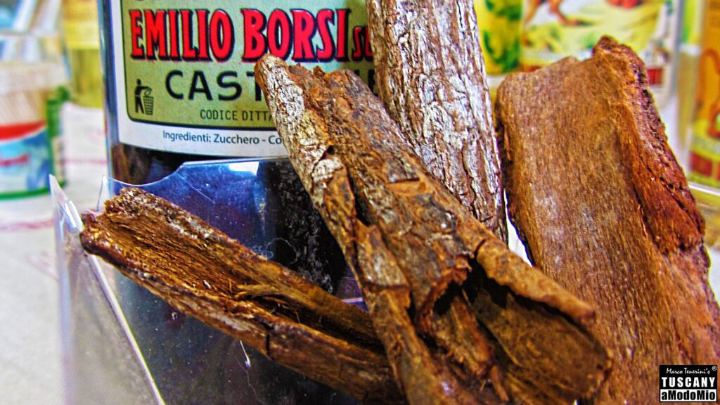 Tuscan distillery and liqueur factory - Pieces of bark of cinchona tree