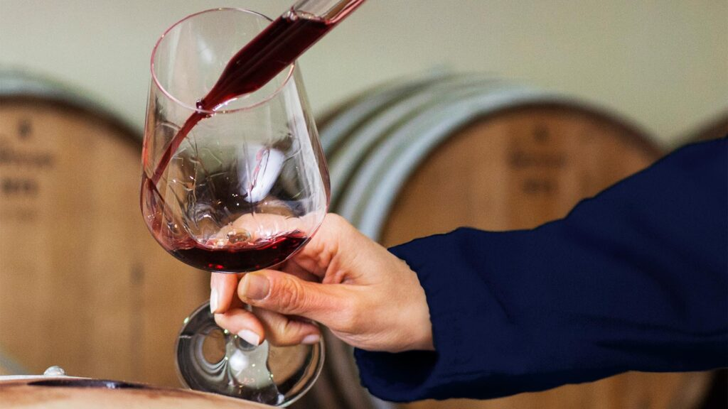 Wine Spectator TOP 100 wine tasting for professional directly from the barrel at RUFFINO