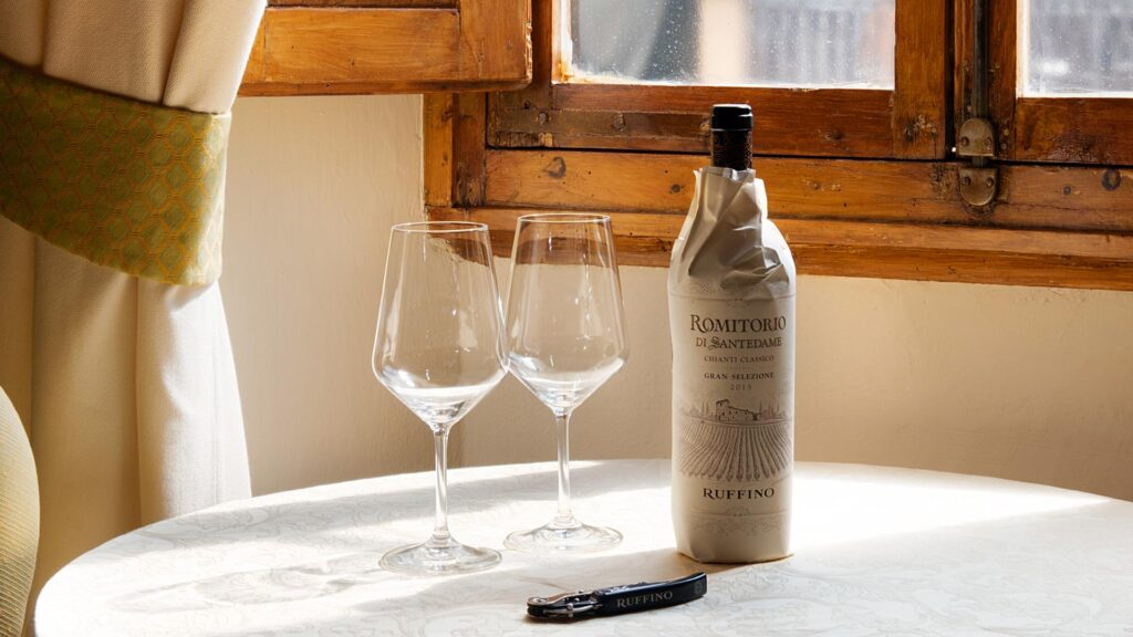 Riserva Ducale Oro wine and WS TOP 100 Modus wine paired with limited edition chocolate pralines