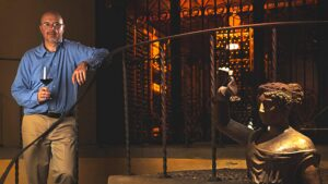 Ruffino's chief winemaker Gabriele Tacconi welcomes you in his wine caveau