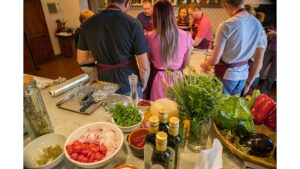 TUSCAN ingredients are the starting point at Coltibuono's cooking School