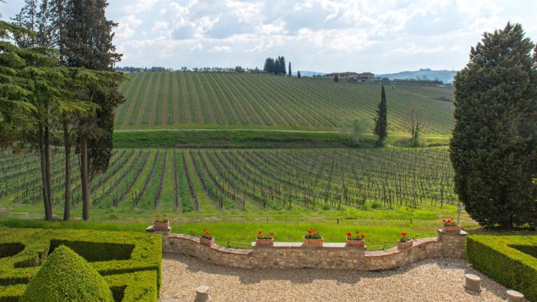 Truffle Hunting at RUFFINO starts from the Villa immersed in the Chianti vineyards