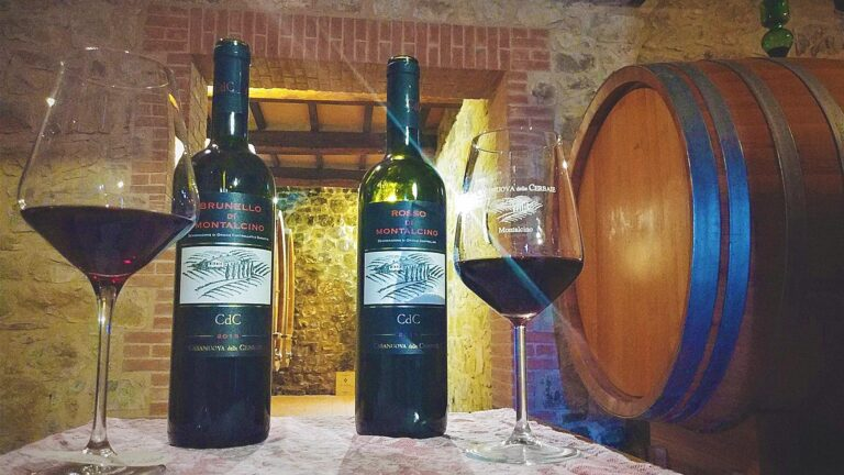 Brunello wine-lunch with historical vintages from owner's personal reserve
