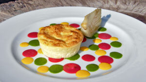 Food design in a wine and food pairing cooking class