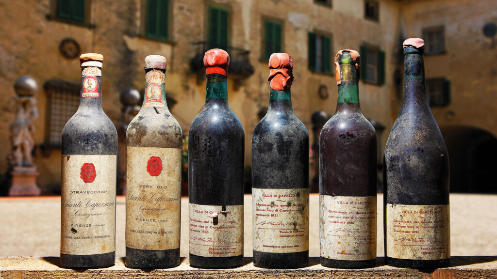 One century of Tuscan wine making and exporting
