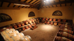 The Tuscan VINSANTO aging room it's under the roof