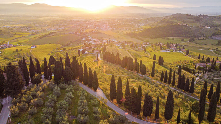 Tuscan landscape as you always see in Renaissance paintings