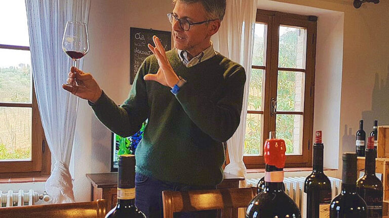 Wine tasting with bottles from the owner's private collection